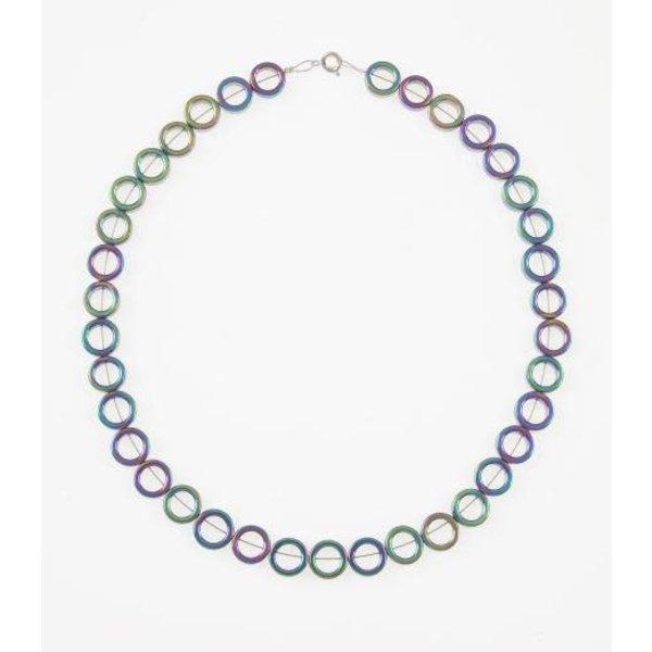 Spectrum circles full necklace
