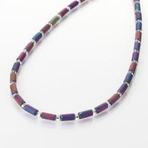 Carrie Elspeth Spectrum lava tube full necklace