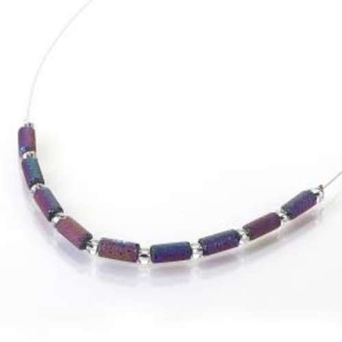 Carrie Elspeth Spectrum lava tube links necklace
