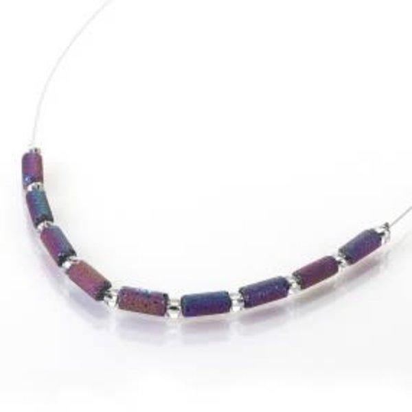Spectrum lava tube links necklace