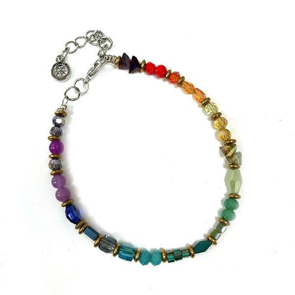 Tiny bright mixed beaded bracelet 034