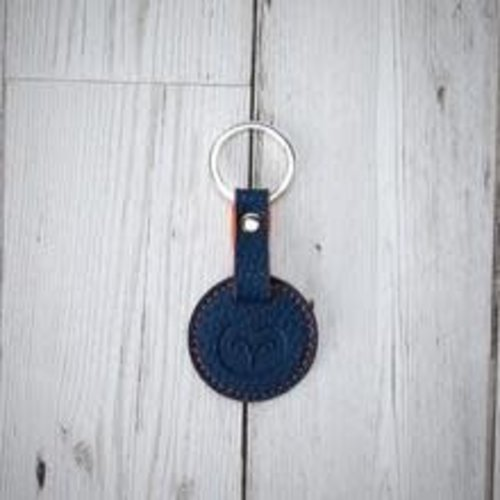 goodeehoo Keyring vegan navy and orange  014
