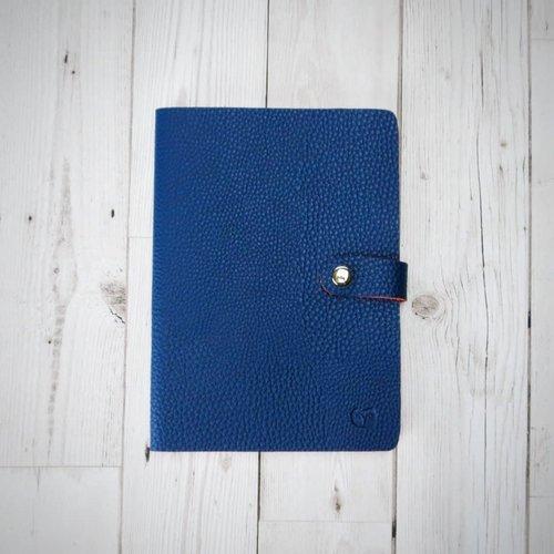 goodeehoo Cuaderno Nicobar Vegan Navy con cierre de papel rayado 003