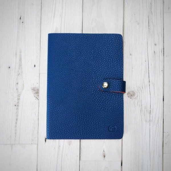 Nicobar Vegan Navy Notebook with clasp lined paper 003