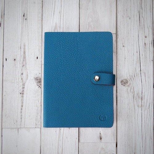 goodeehoo Nicobar Vegan Teal Notebook con cierre de papel rayado 002