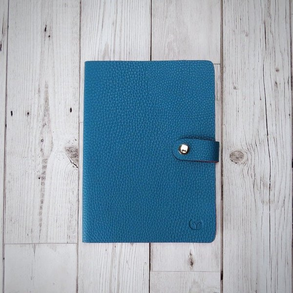 Nicobar Vegan Teal Notebook con cierre de papel rayado 002