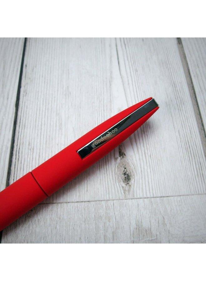 Drehkugelschreiber rot in Geschenkröhre 018