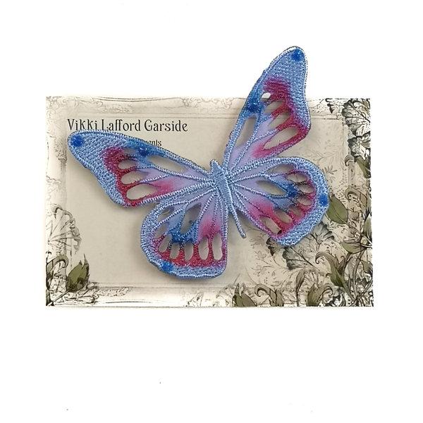 Broche bordado mariposa broche en tarjeta 040