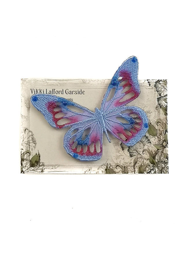 Schmetterling Gestickte Brosche auf Karte 040