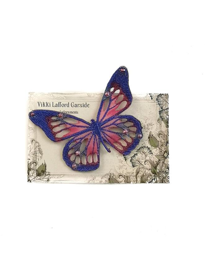 Schmetterling gestickte Brosche Pin auf Karte 041