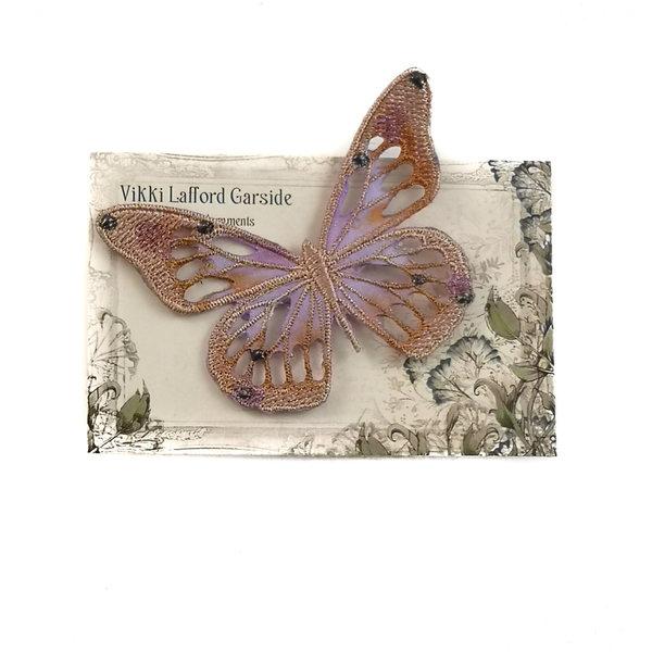 Broche bordado mariposa broche en tarjeta 042