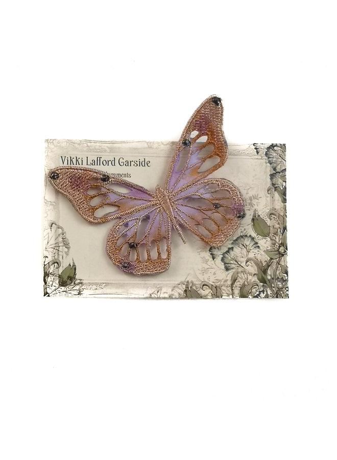 Butterfly Gestickte Brosche auf Karte 042