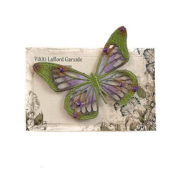 Broche bordado mariposa broche en tarjeta 044