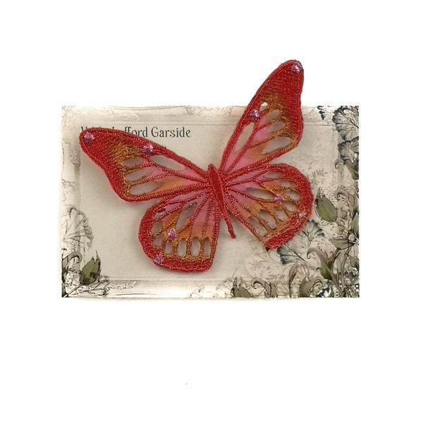 Butterfly Gestickte Brosche auf Karte 043