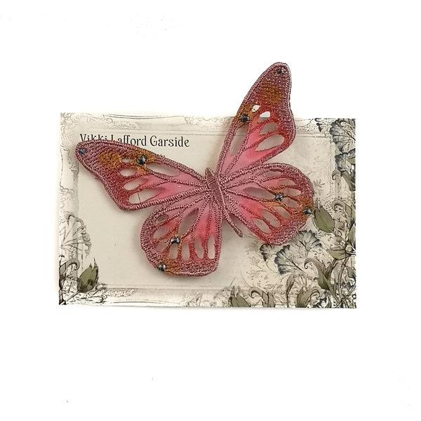 Broche bordado mariposa broche en tarjeta 045