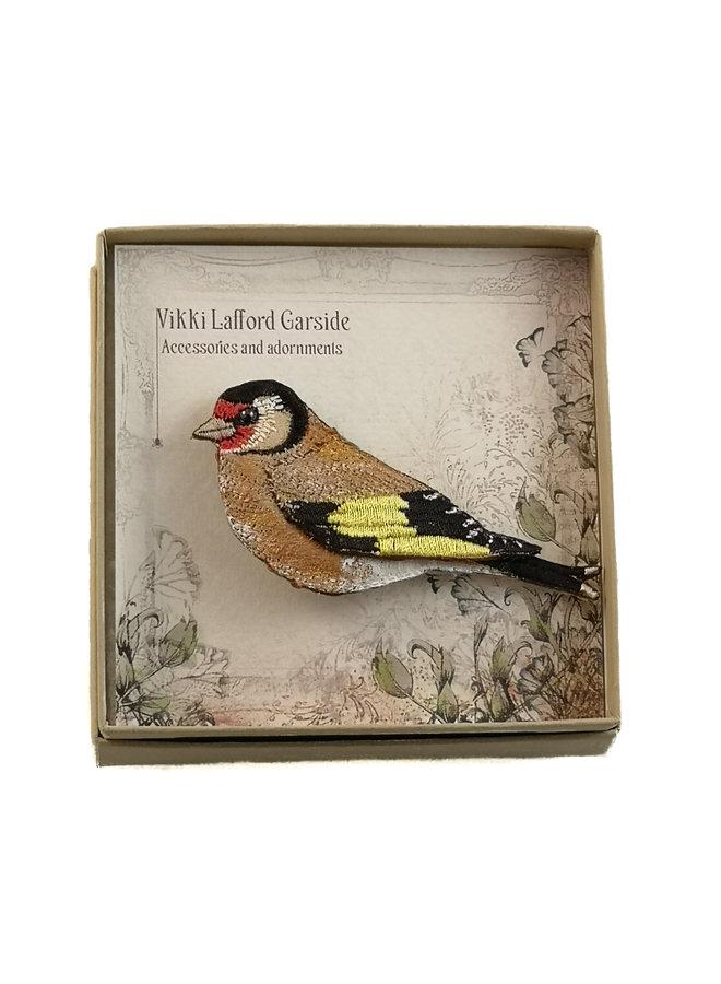 Goldfinch Gestickte Brosche 057