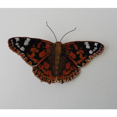 Vikki Lafford Garside Pintado Lady British mariposa bordado caja broche 007