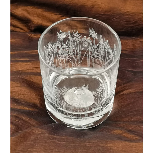 Emma Britton Floral Tumbler Table  Glass 004