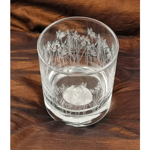 Floral Tumbler Table  Glass 004