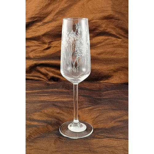 Emma Britton Floral Flute Table  Glass 005