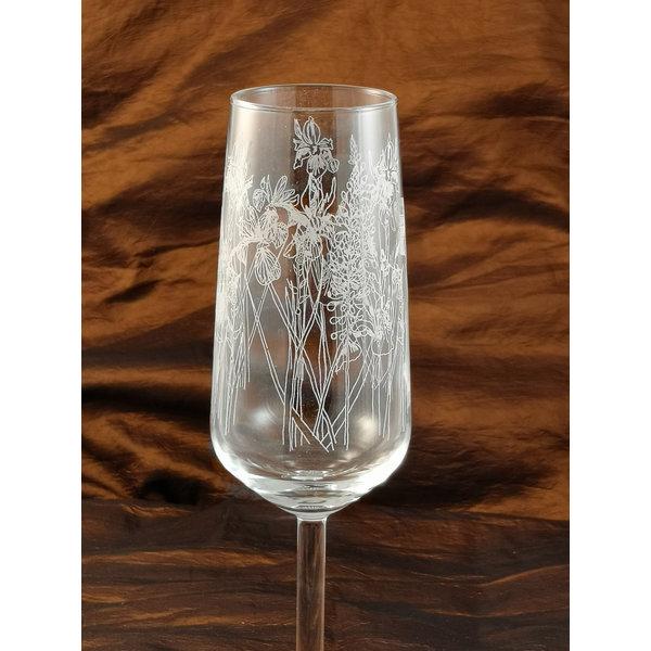 Mesa de flauta floral de cristal 005
