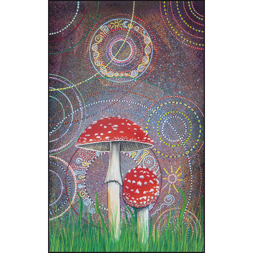 Peter Yankowski Amanita Muscaria printed folded card 053