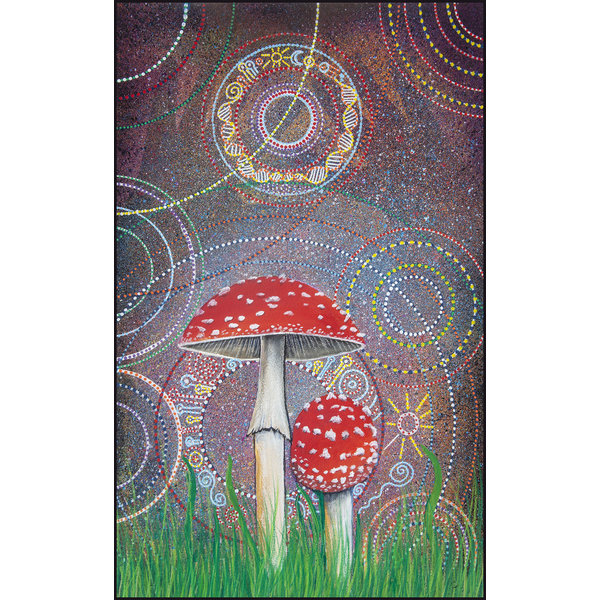 Amanita Muscaria printed folded card 053