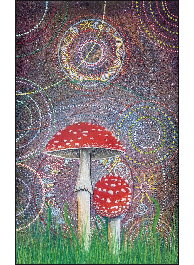 Amanita Muscaria printed folded card 053