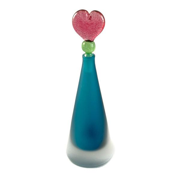 Konisches Blau mit Herzstopper-Duftflasche 027