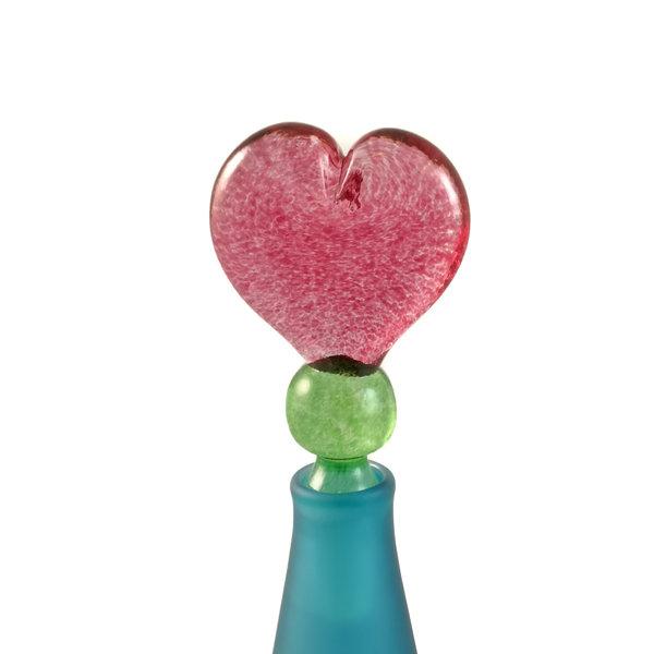 Cónica azul con tapón corazón aroma botella 027