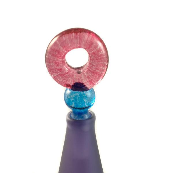 Cónico morado con tapón de círculo botella de aroma 028