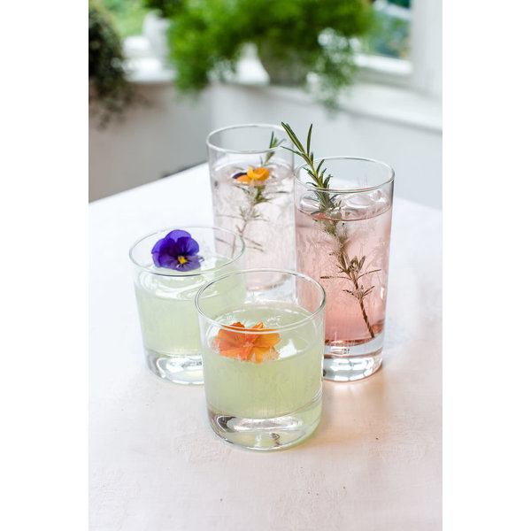 Floral Hi Ball Glass 001