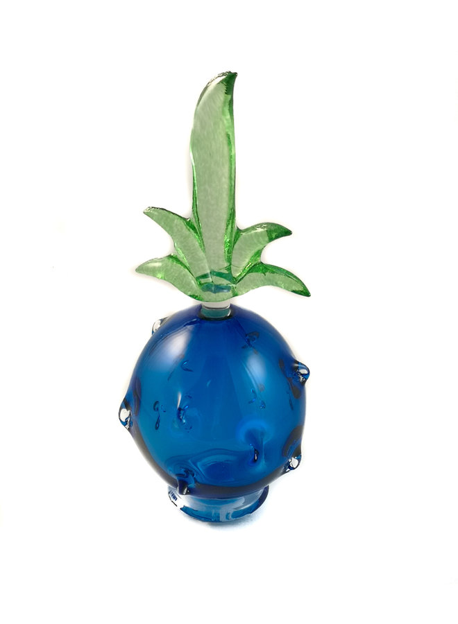 Ananas blau mit grüner Stopperduftflasche 035