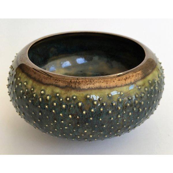Gold und Jade, mit Rad geworfene große Tonschüssel 06