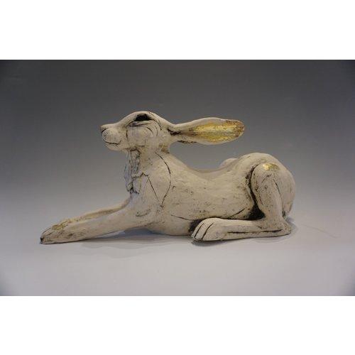 Vicky Yates Winter Hare stoneware 03