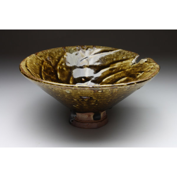 Bowl 100  wood fired stoneware ash glaze 008