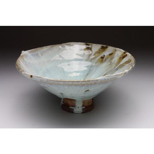 Deiniol Williams Bowl 107  wood fired stoneware ash glaze 009