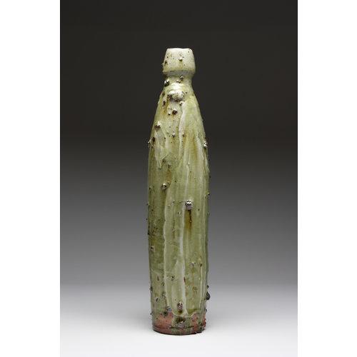 Deiniol Williams Medium Bottle Form  wood fired stoneware ash glaze 003