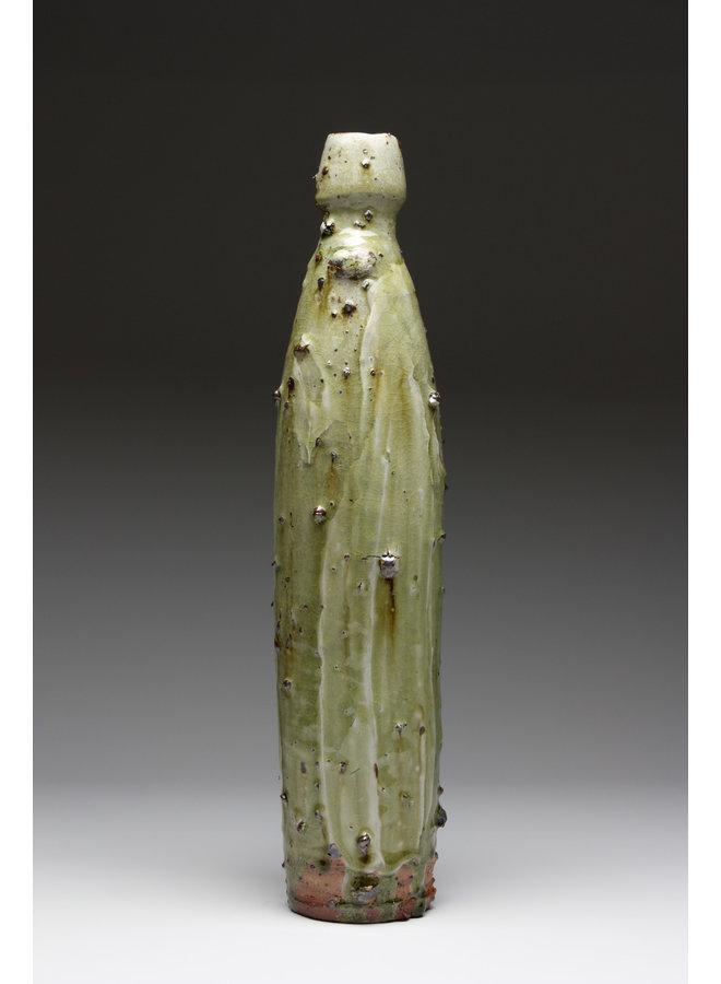 Medium Bottle Form aus Holz gebrannte Steinzeug-Ascheglasur 003