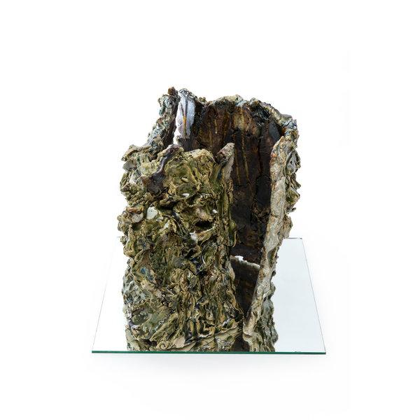 Passage, elektrisch gebranntes Steinzeug auf Spiegelglas 06