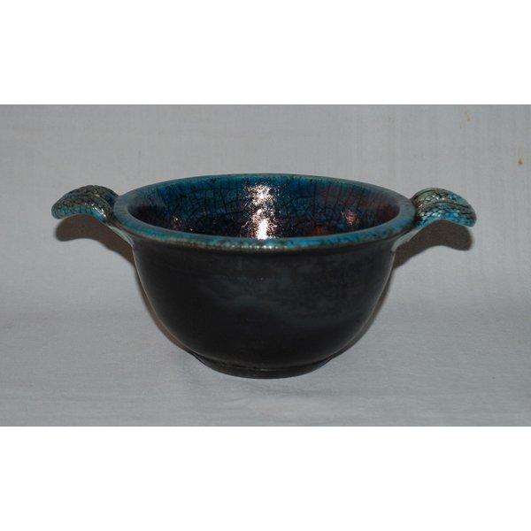 Raku Bowl with copper lustre 01