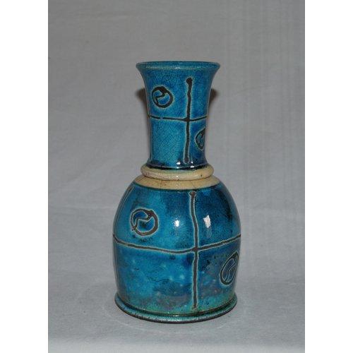 Dick Graves Raku Jar with beaker lid 05