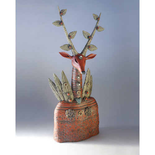 Drew Caines Blood Stag stoneware 02