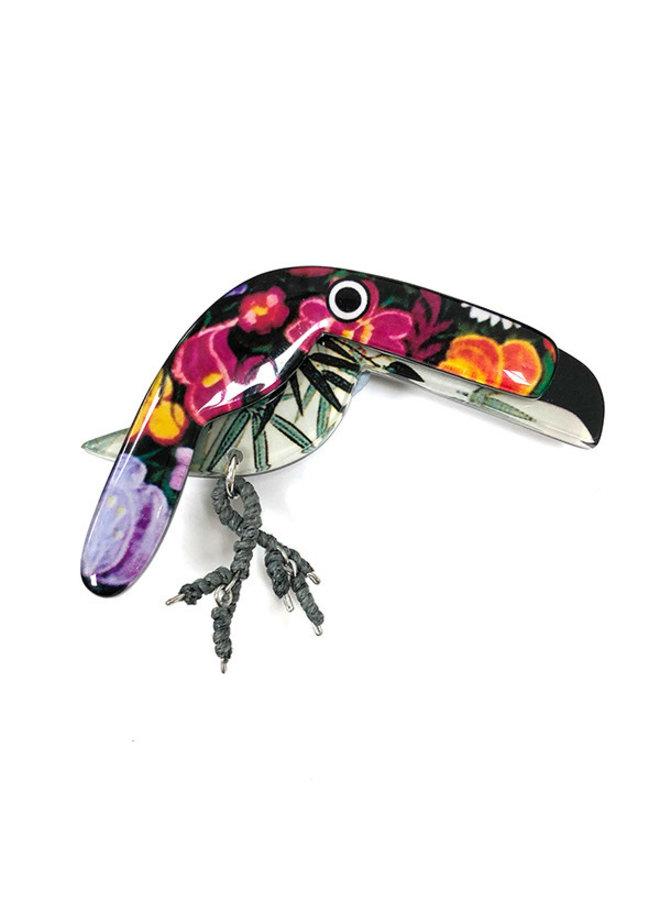Tucan Fun Acrylic brooch 038