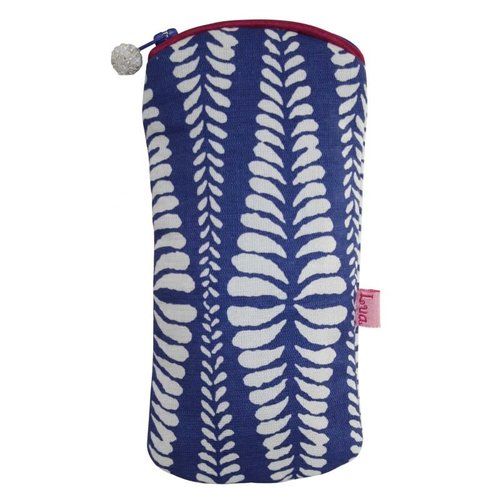 LUA Glasses zip case cotton ferns blue 126