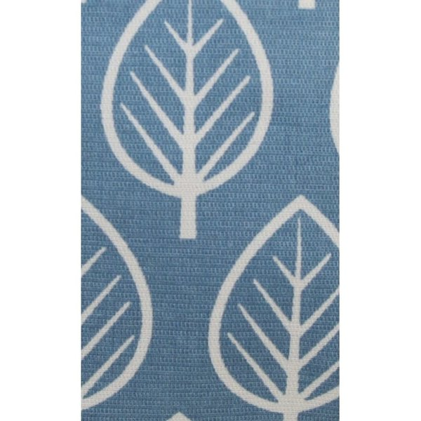 Glasses zip case cotton leaves pale blue 124