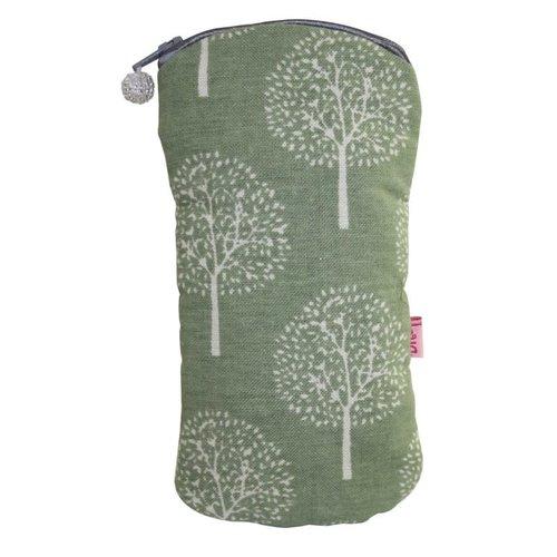 LUA Brillen-Reißverschluss-Etui Baumwolle Maulbeerbaum Olive 127