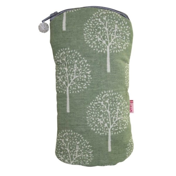 Glasses zip case cotton mulberry tree olive 127