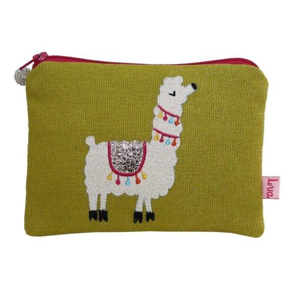 Lama appliziert Münze Reißverschlusstasche Zitrus 106