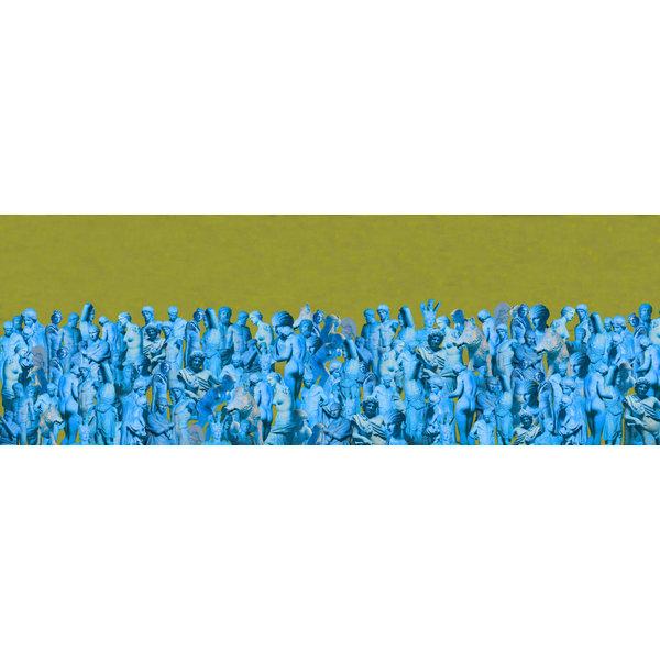 Besetzung aus 1000 Seide und Modellschal Lime-Türkis 016
